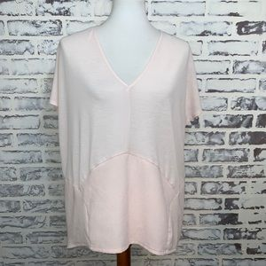 Zara Blush Pink structured open back Top large